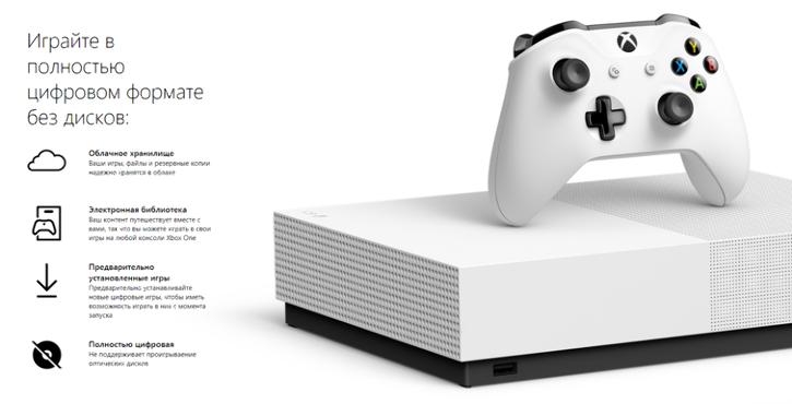 Консоль Xbox One S All-Digital Edition официально анонсирована, поступит в продажу 7 мая